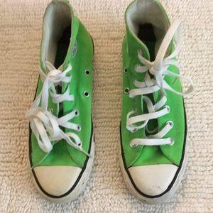 Women's Neon Green Converse size 6